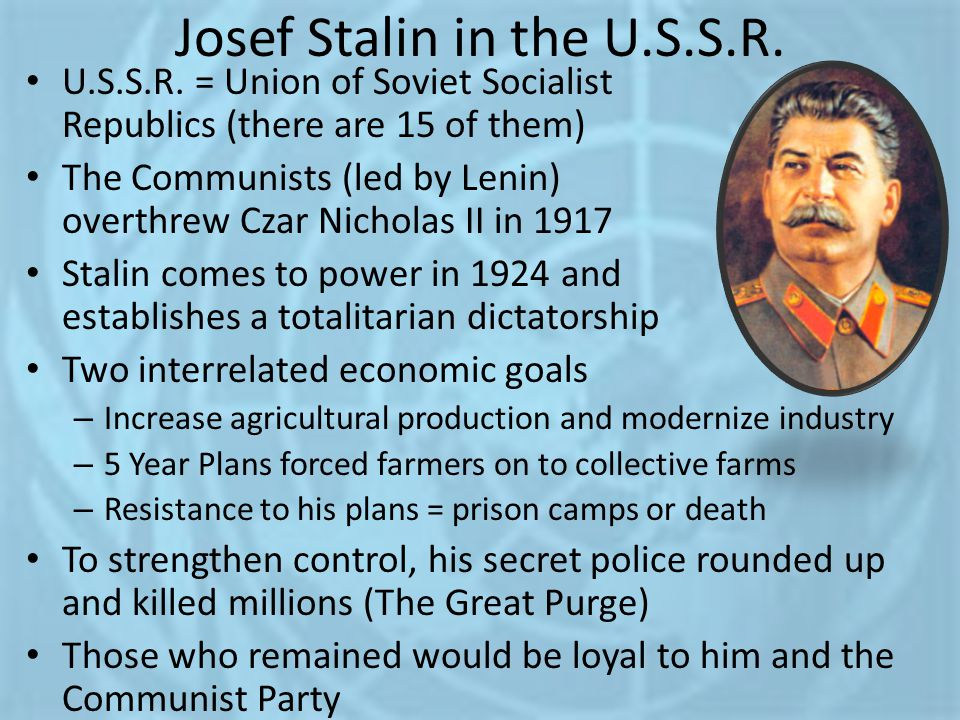 Josef Stalin in the U.S.S.R.