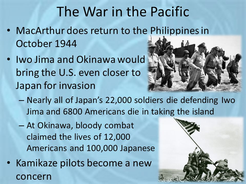 The War in the Pacific MacArthur does return to the Philippines in October 1944.