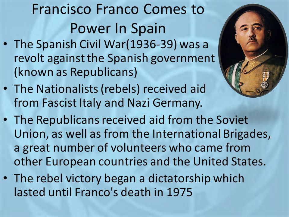 Francisco Franco Comes to Power In Spain