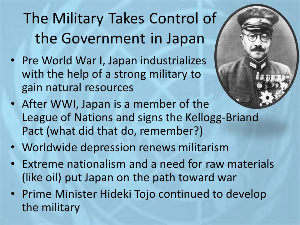 The Military Takes Control of the Government in Japan