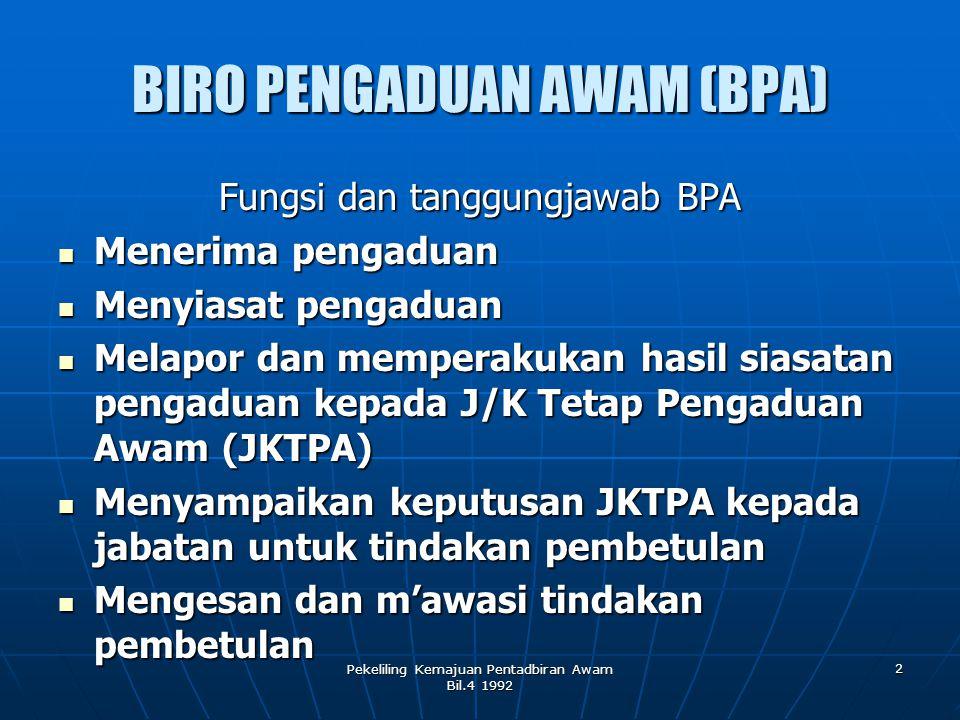 BIRO PENGADUAN AWAM (BPA)