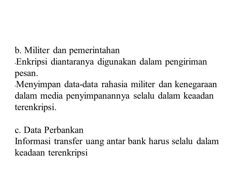 b. Militer dan pemerintahan