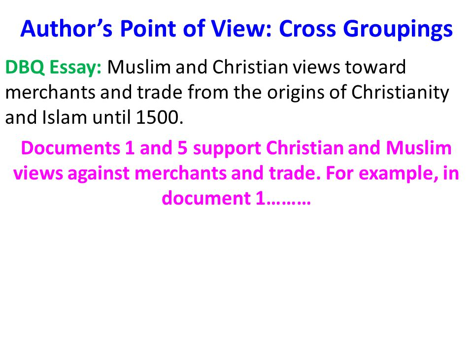 christianity vs islam essay ap world Home » ap world dbq christian and islam attitude towards merchants  there's  a specialist from your university waiting to help you with that essay.