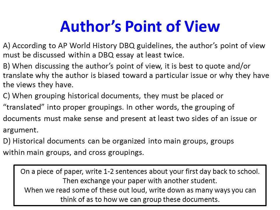 essays that express the authors point of view Online writing lab points of view  this is the point of view used when a writer is writing  most academic essays should be written almost entirely in the.