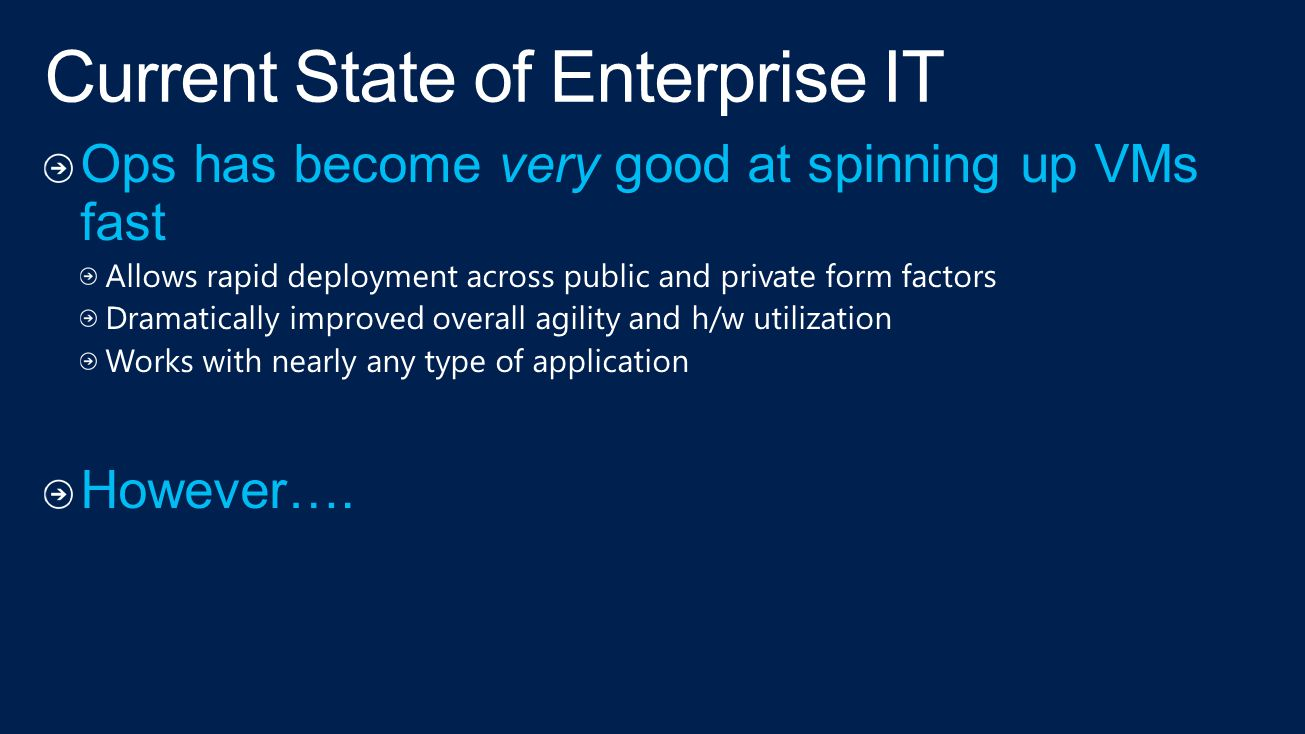 Current State of Enterprise IT