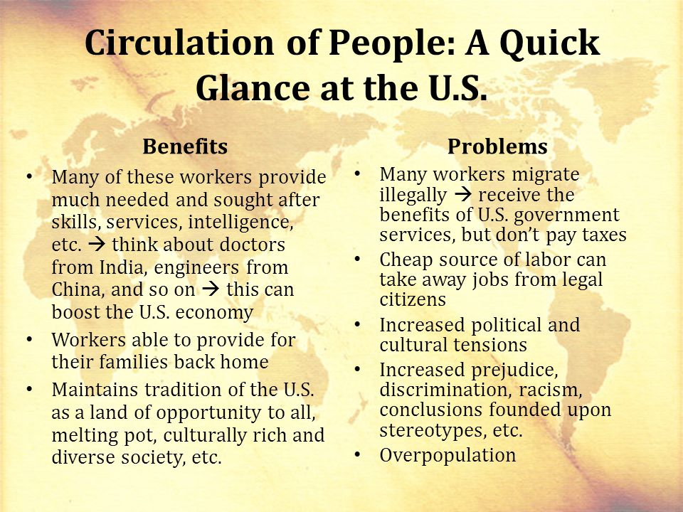 Circulation of People: A Quick Glance at the U.S.