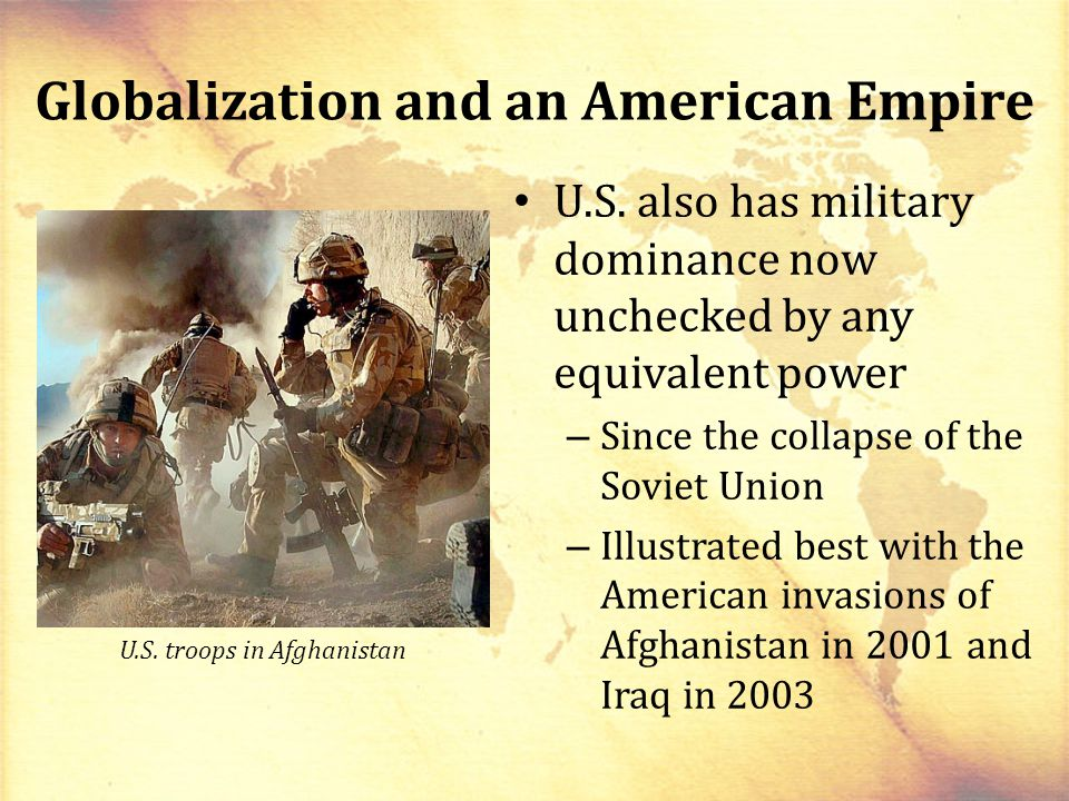 Globalization and an American Empire