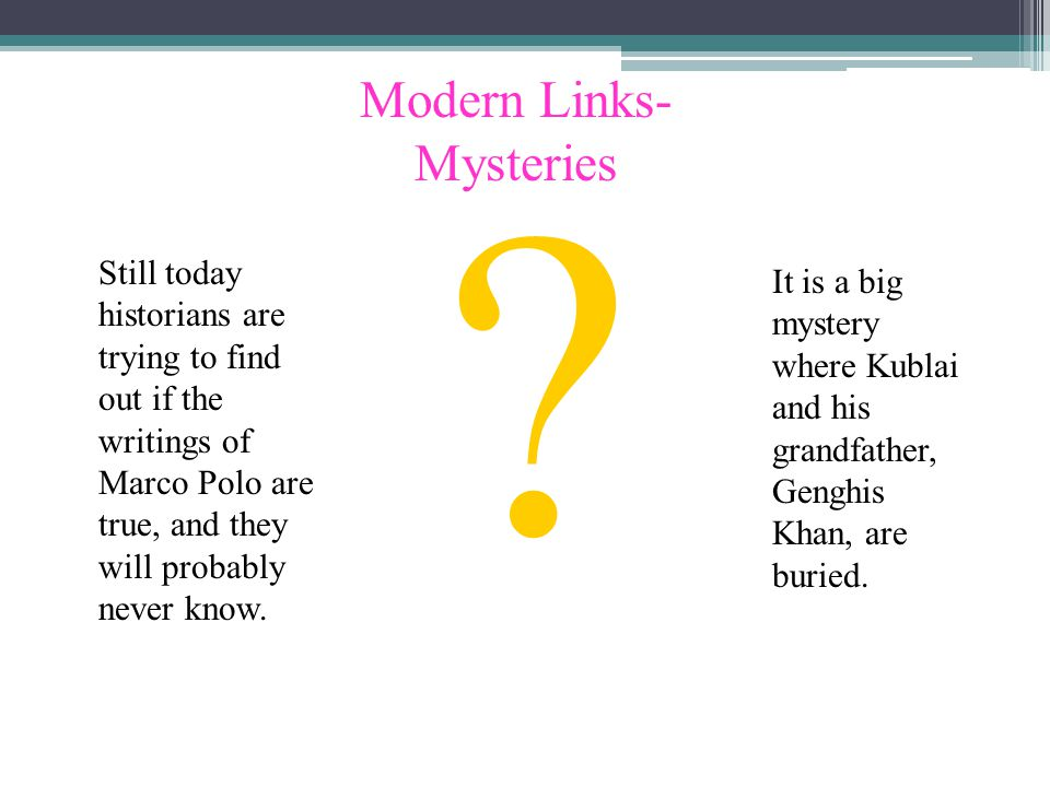 Modern Links- Mysteries