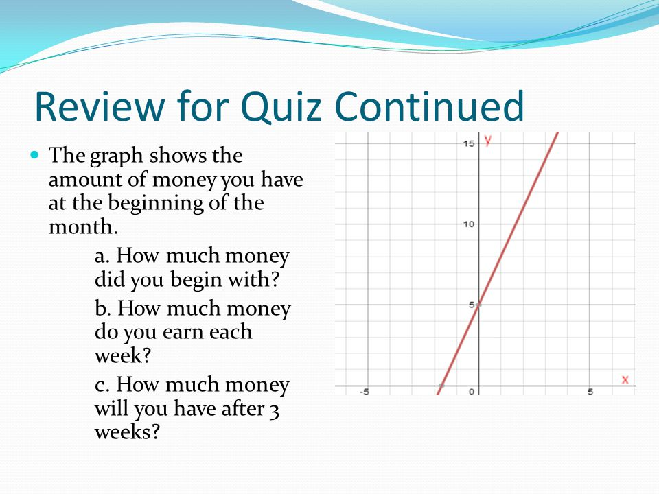 Review for Quiz Continued