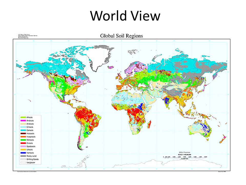World View World View from http://soils.cals.uidaho.edu/soilorders/maps.htm