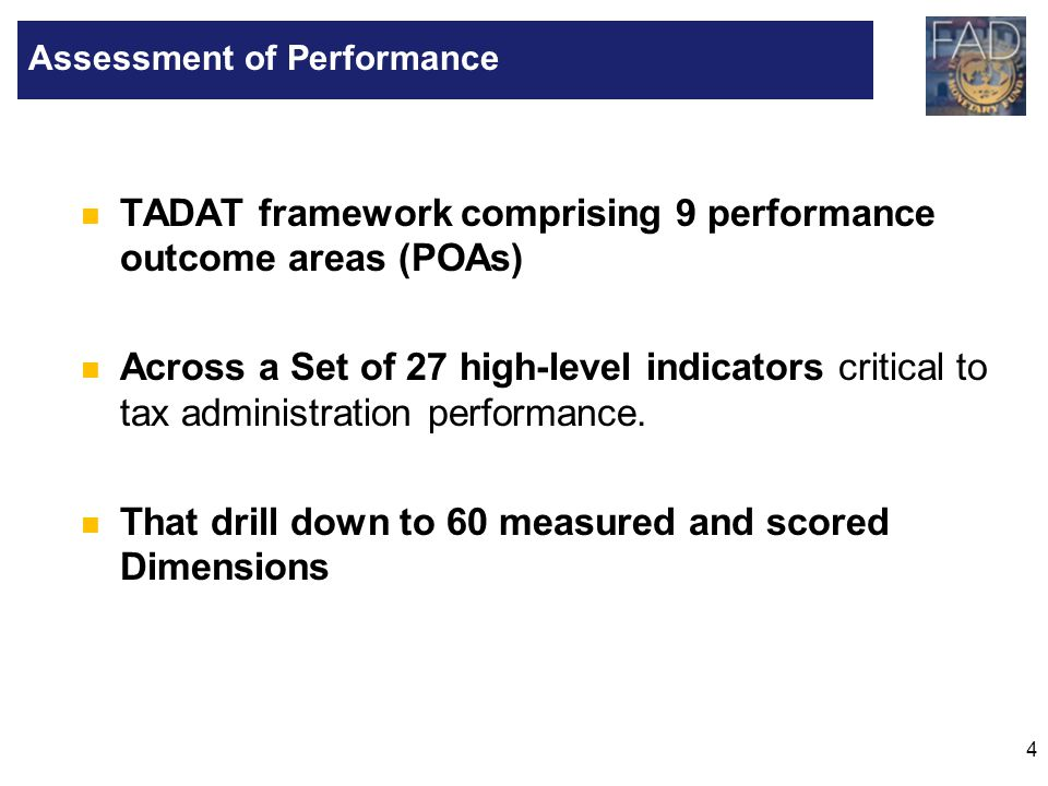 Assessment of Performance