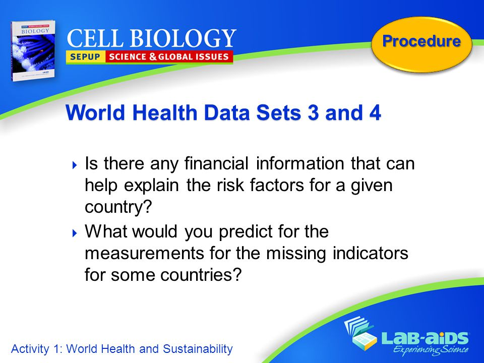 World Health Data Sets 3 and 4