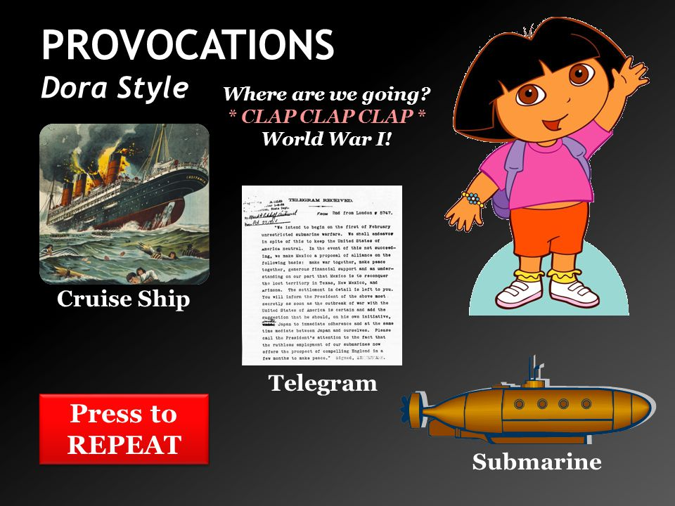 PROVOCATIONS Dora Style