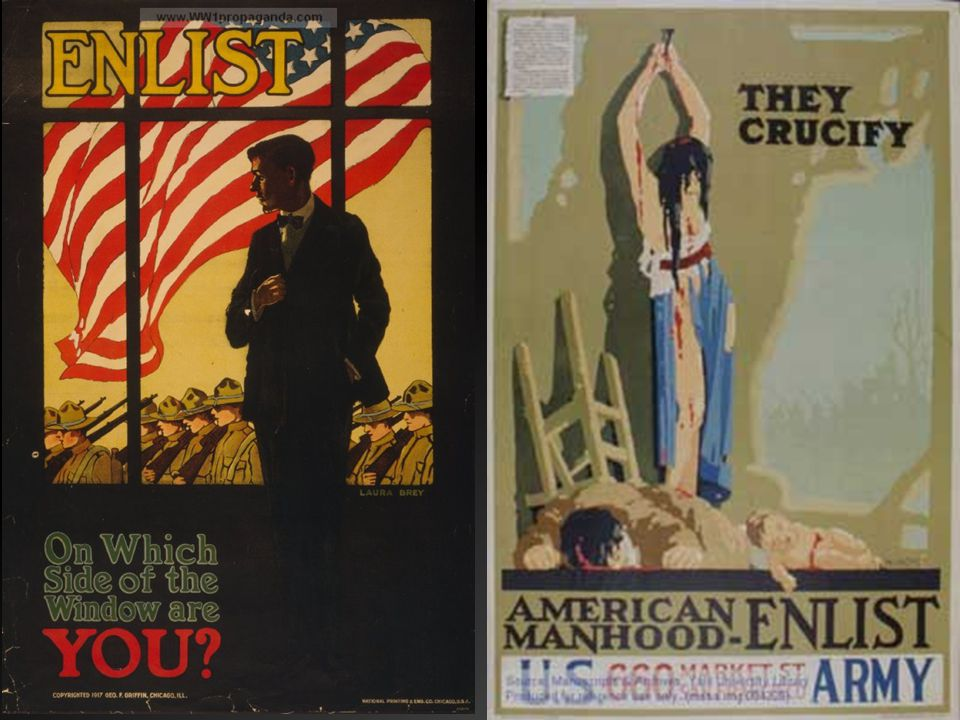 http://www.yale.edu/collections_collaborative/WW1/gender.html http://www.ww1propaganda.com/ww1-poster/enlist-which-side-window-are-you.