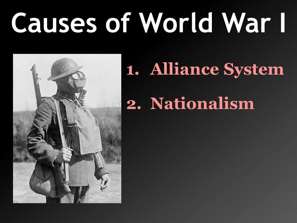 Causes of World War I Alliance System Nationalism