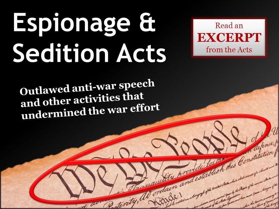 Espionage & Sedition Acts