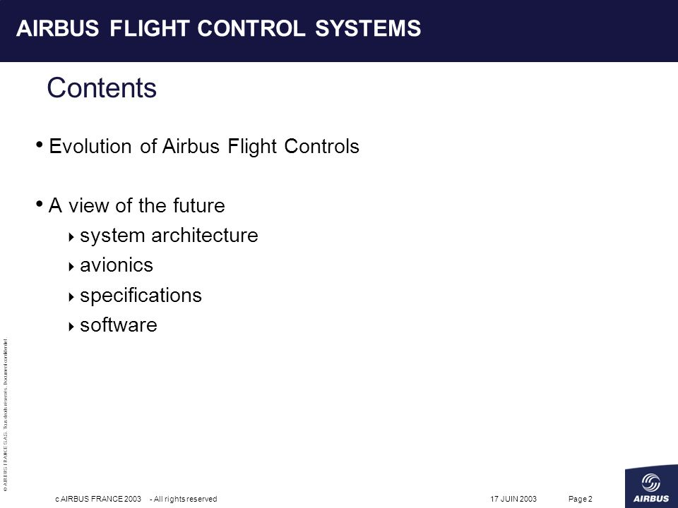 AIRBUS FLIGHT CONTROL SYSTEMS