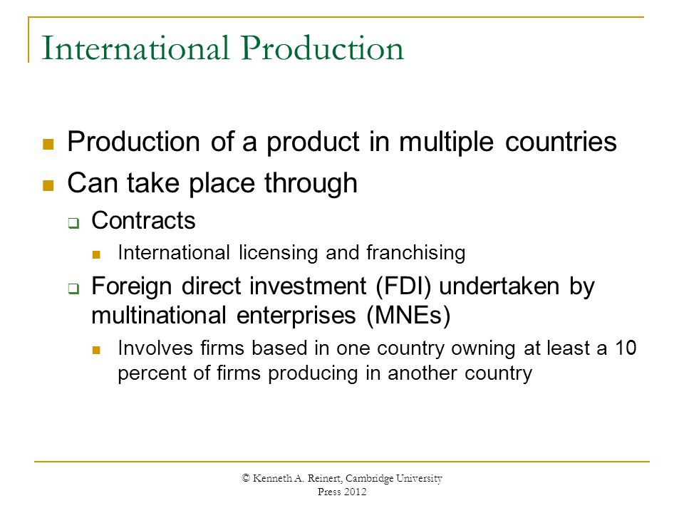 International Production
