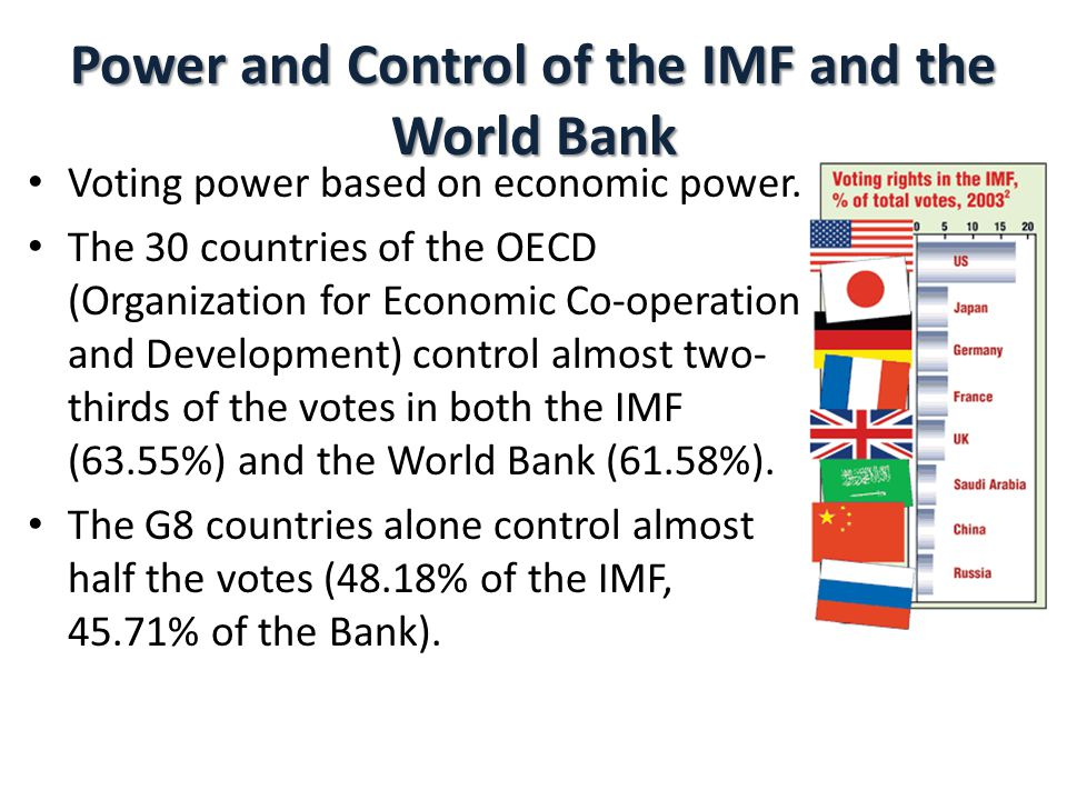 Power and Control of the IMF and the World Bank