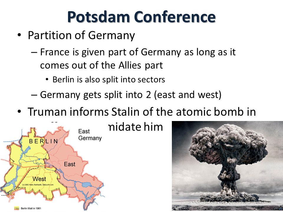 Potsdam Conference Partition of Germany