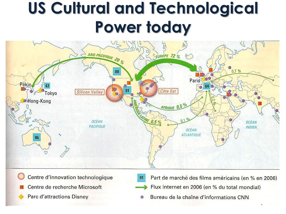 US Cultural and Technological Power today
