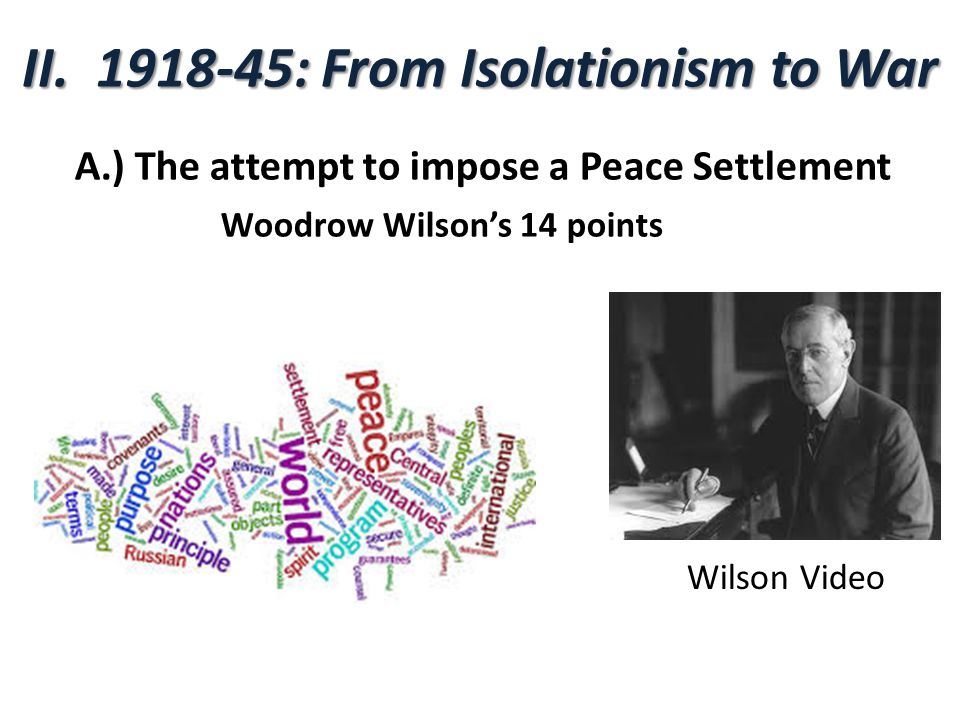 II : From Isolationism to War