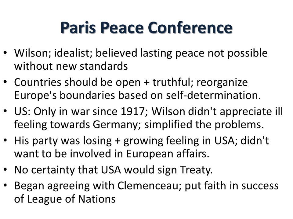 Paris Peace Conference