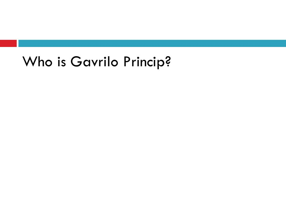 Who is Gavrilo Princip