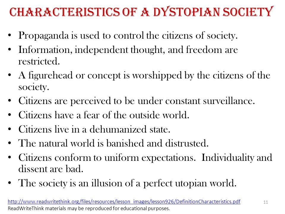 Characteristics of a Dystopian Society