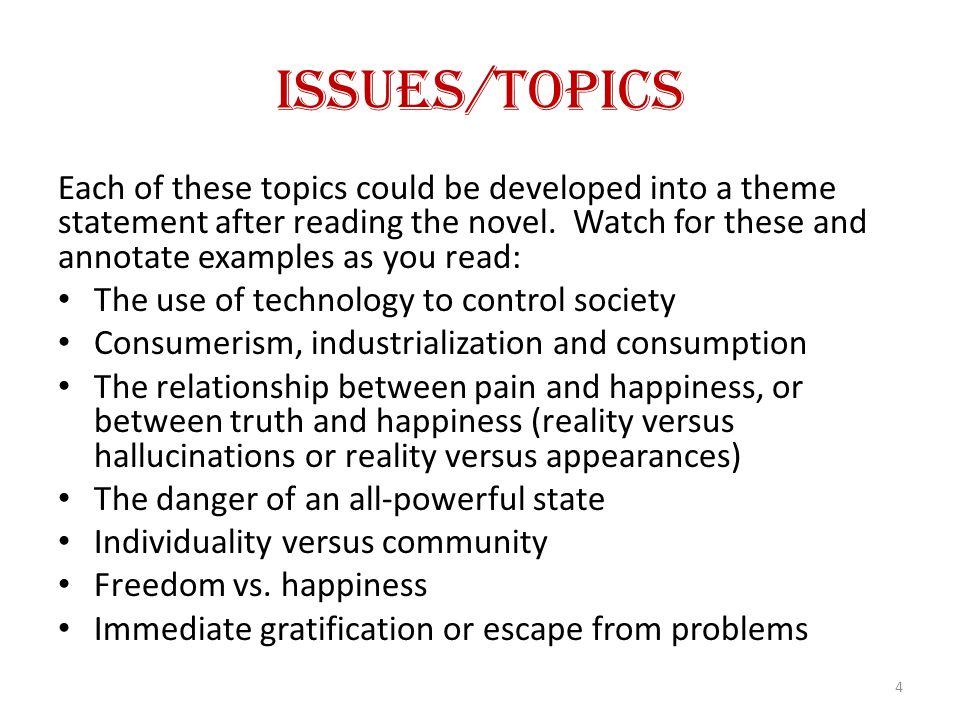 Issues/Topics