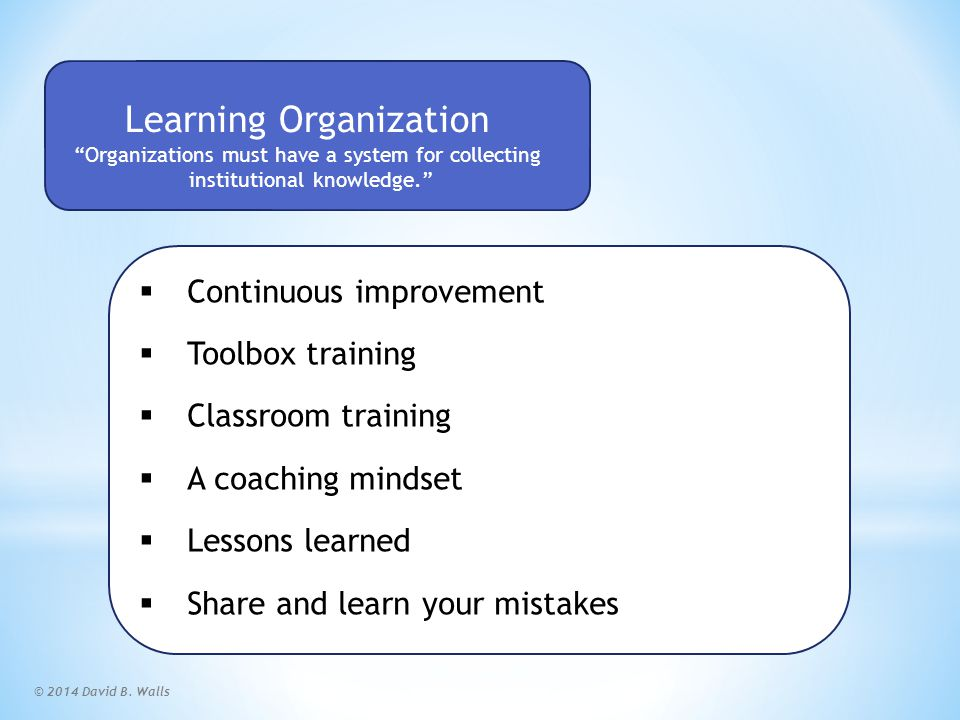 Learning Organization Scorecard
