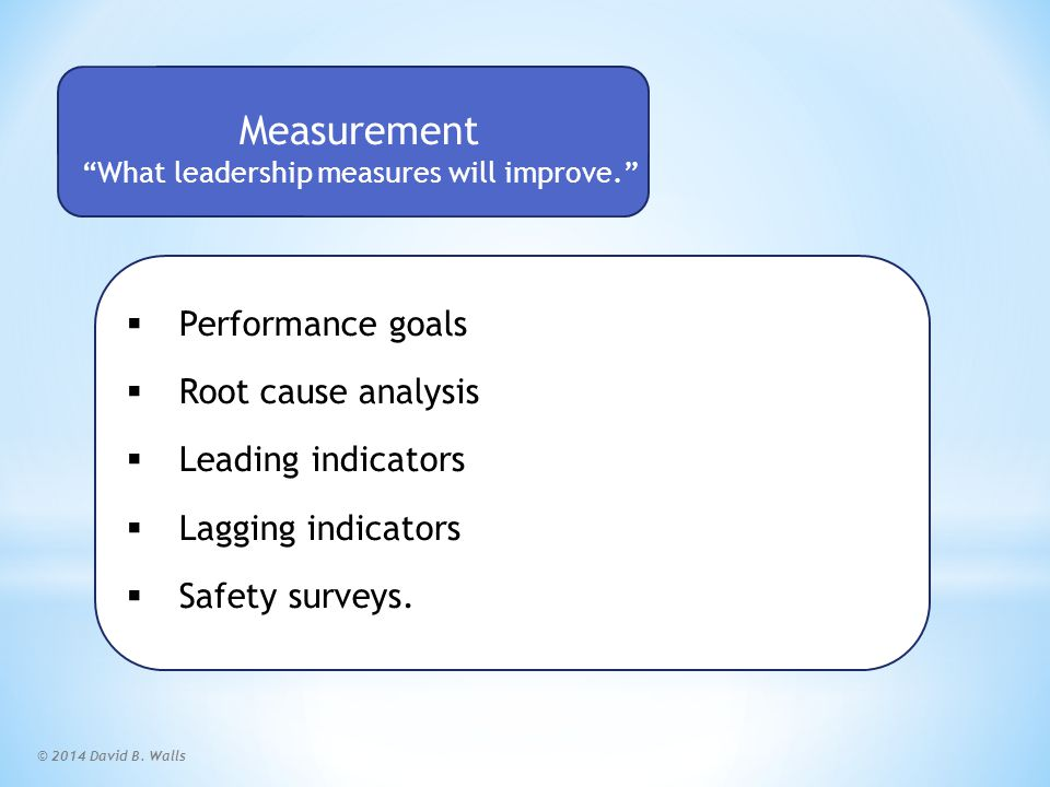 Measurement Scorecard World-Class Safety Performance starts with you!