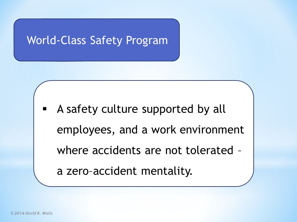 World Class Safety Program