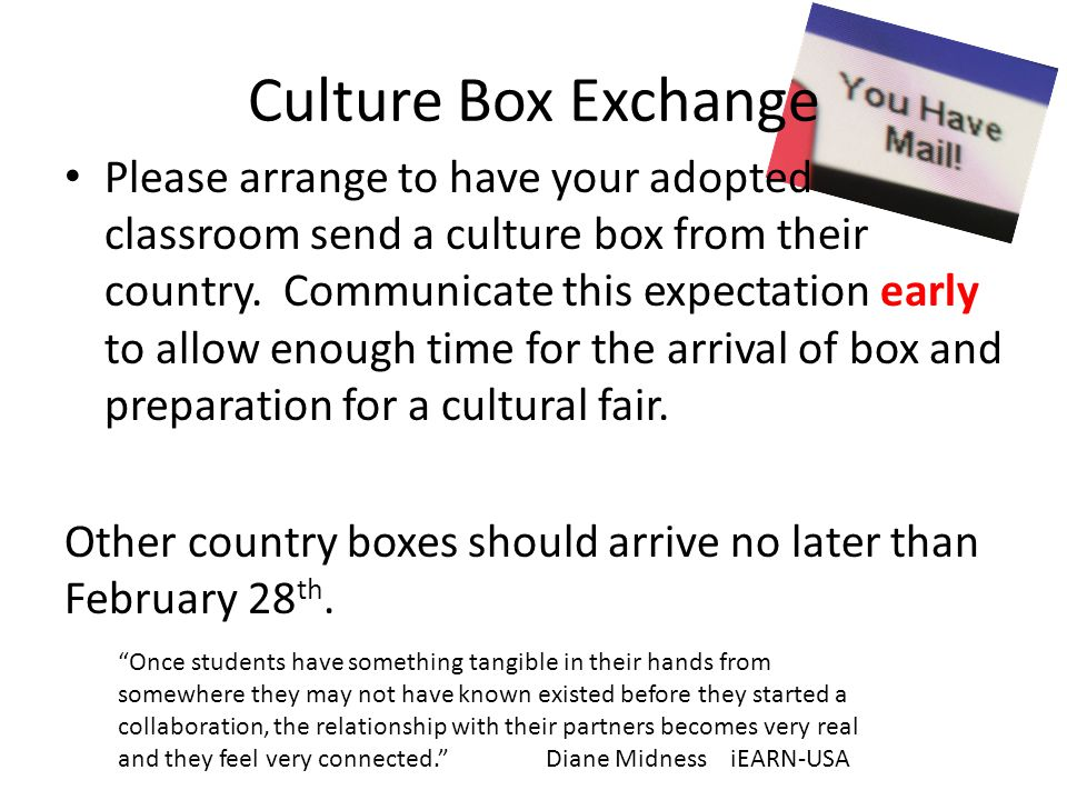 Culture Box Exchange