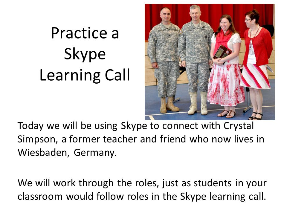 Practice a Skype Learning Call