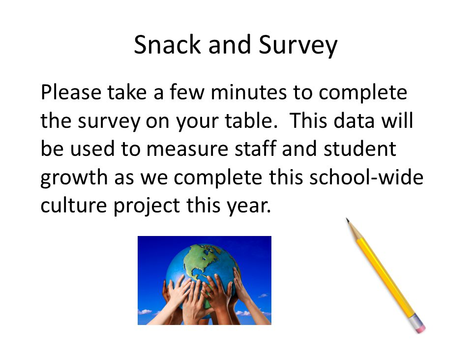 Snack and Survey