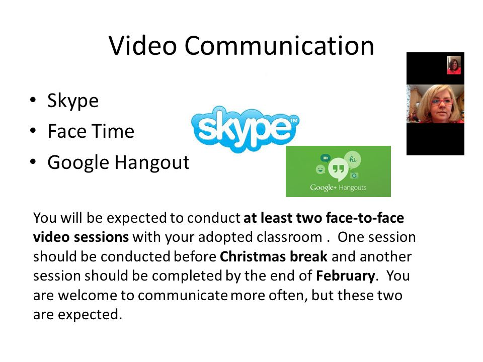 Video Communication Skype Face Time Google Hangout