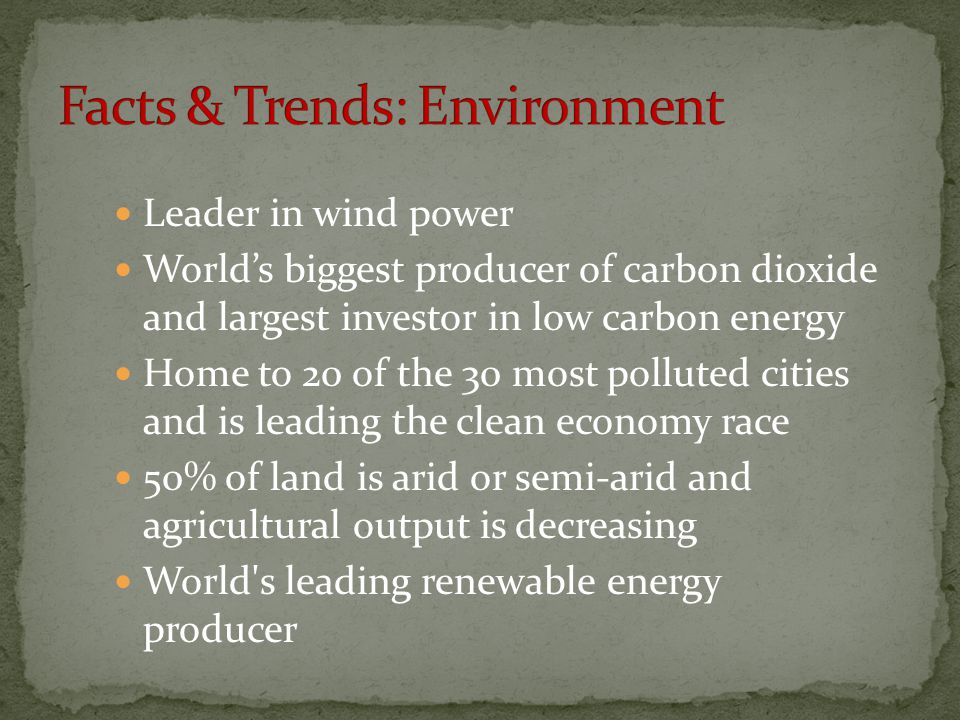Facts & Trends: Environment