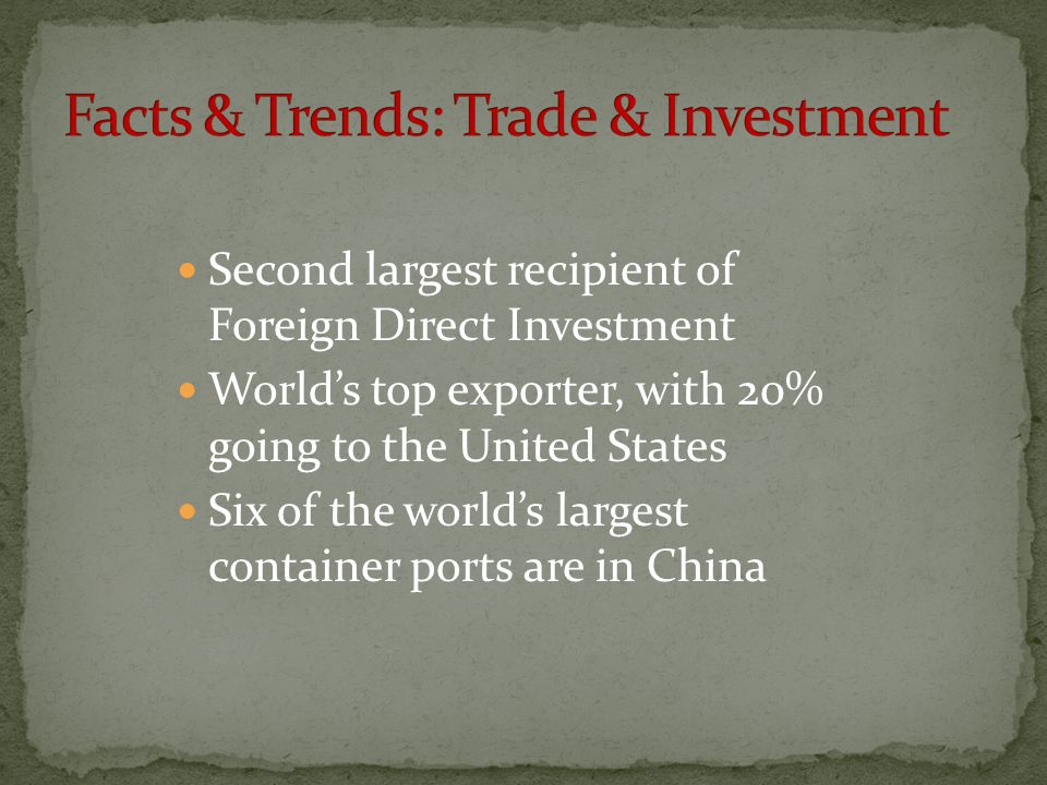 Facts & Trends: Trade & Investment