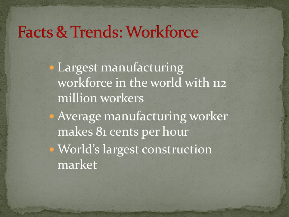 Facts & Trends: Workforce