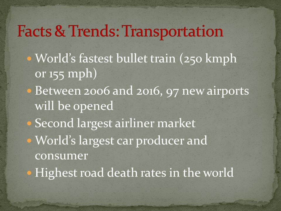 Facts & Trends: Transportation