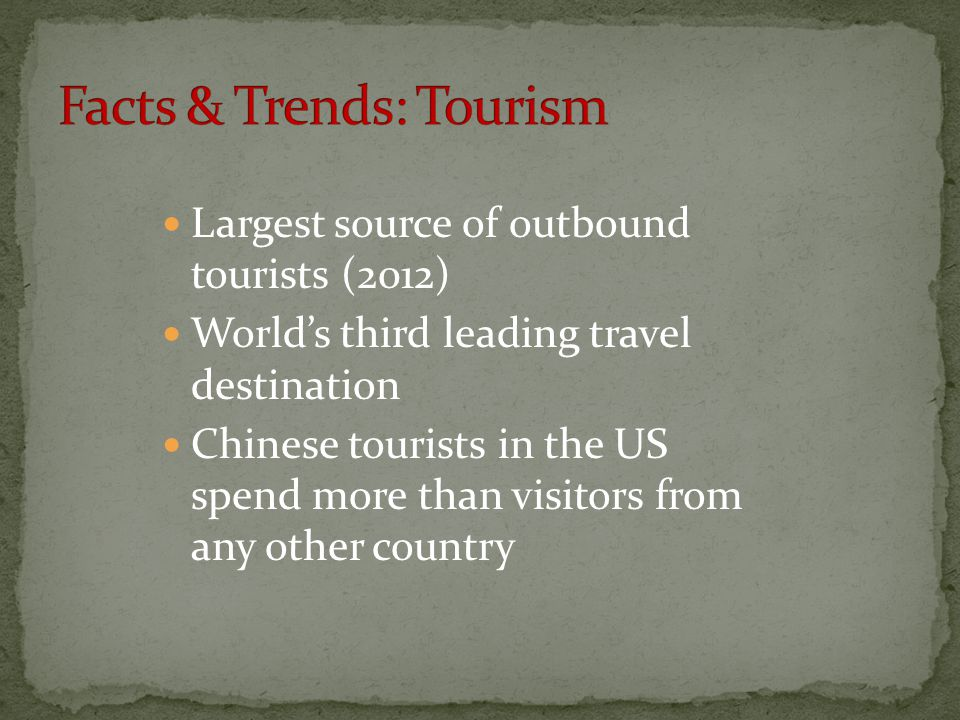 Facts & Trends: Tourism