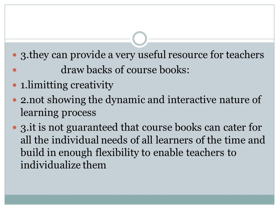 3.they can provide a very useful resource for teachers