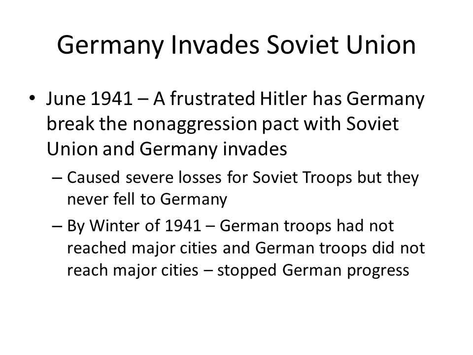 Germany Invades Soviet Union