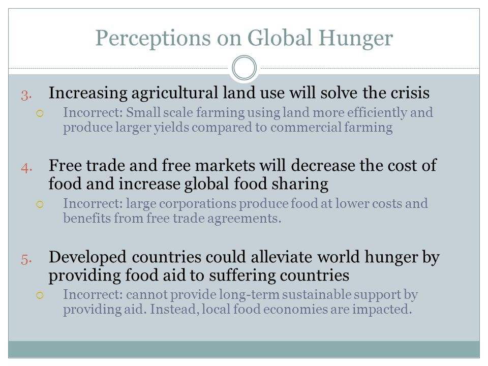 Perceptions on Global Hunger