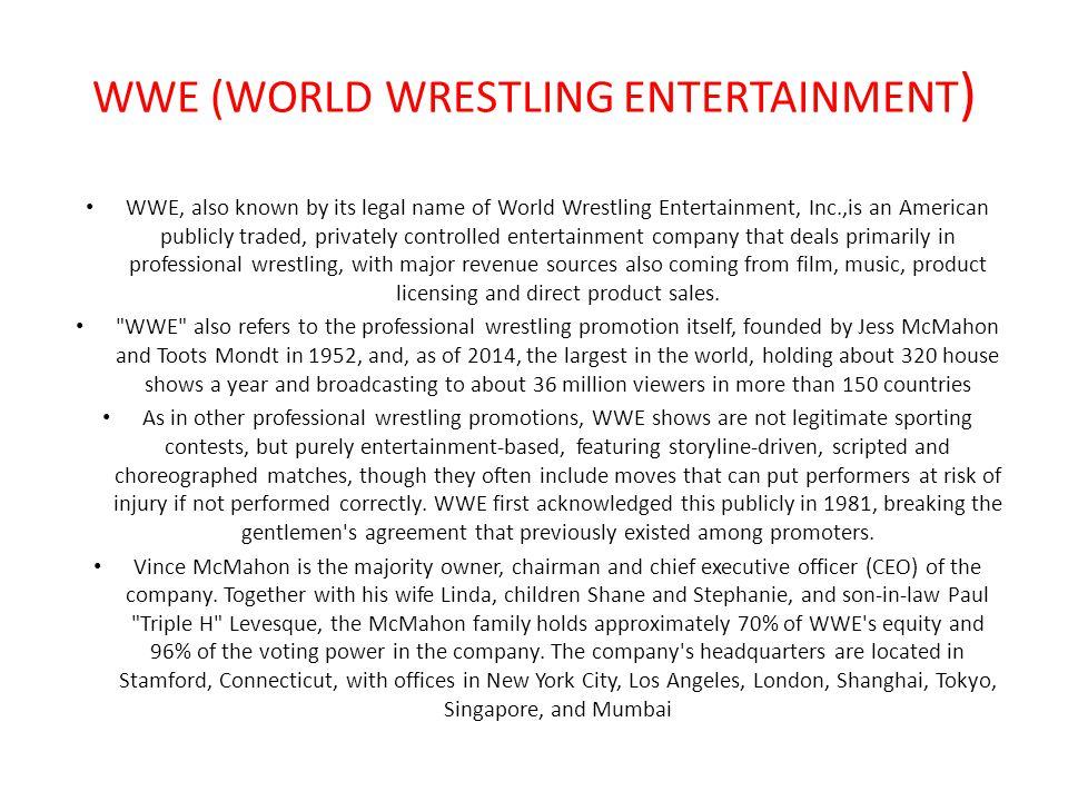 world wrestling entertainment World wrestling entertainment, inc class a 3607 (-063%) (wwe)的股票股价,行情,新闻,财报,数据wwe,worldwrestlingentertainment,雪球,雪球财经,world wrestling.