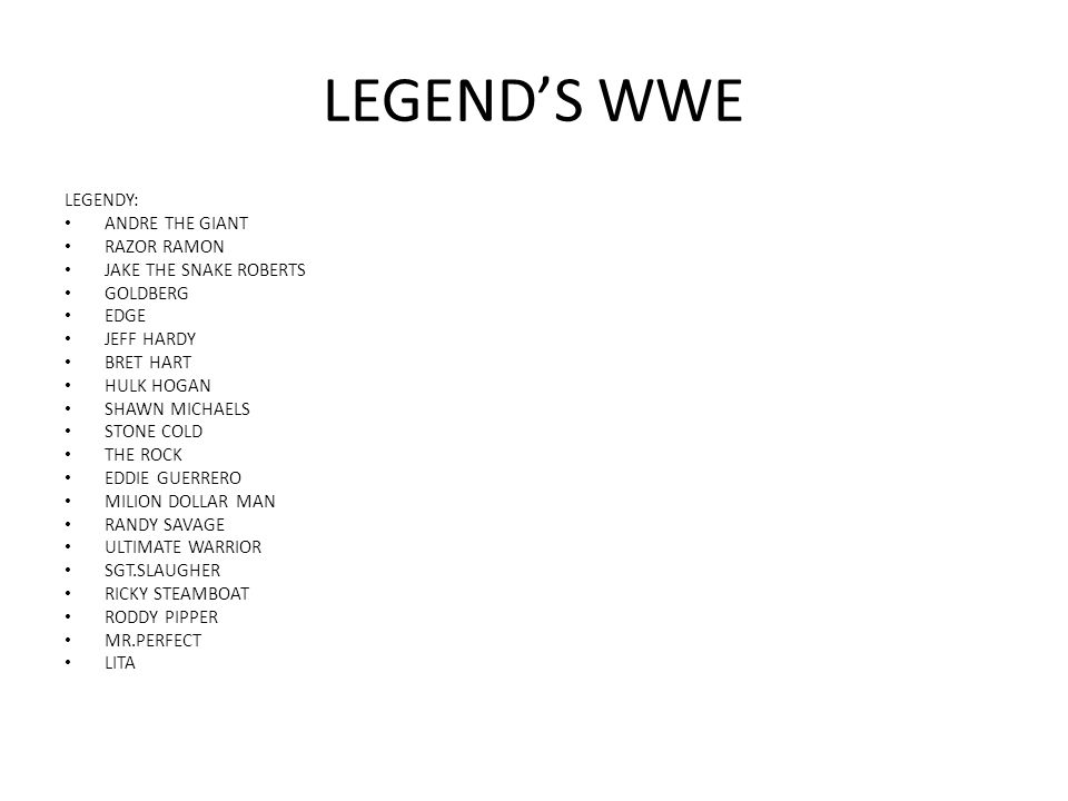 LEGEND'S WWE LEGENDY: ANDRE THE GIANT RAZOR RAMON