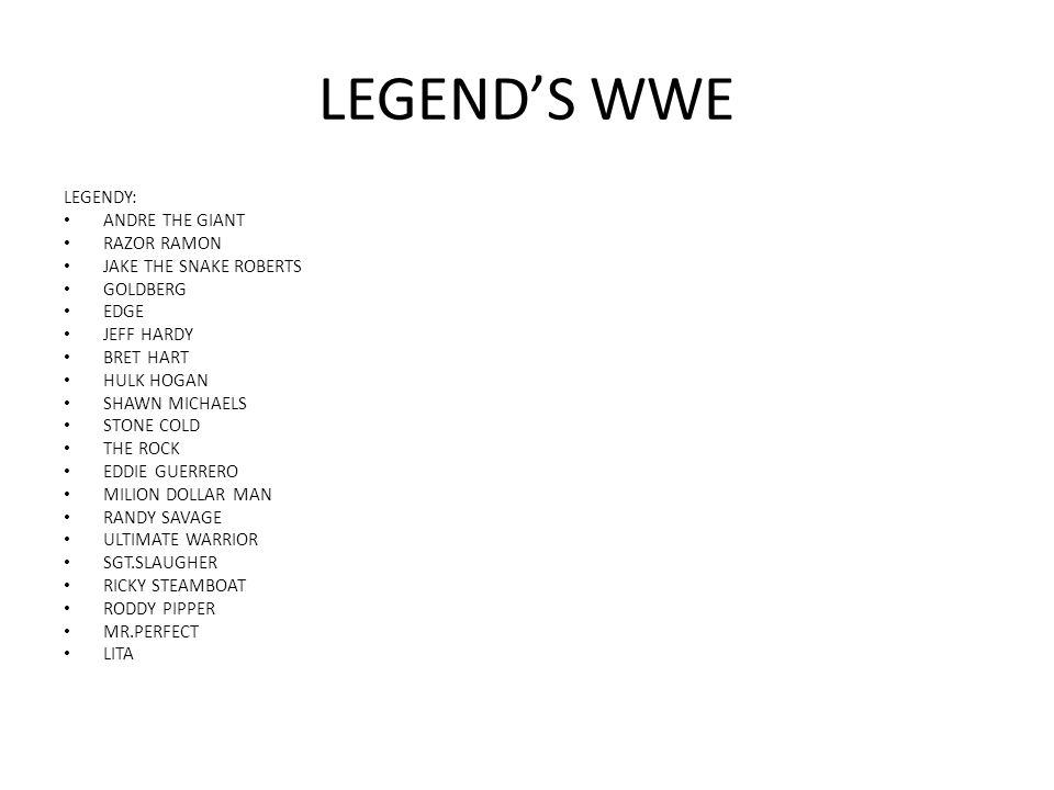 LEGEND'S WWE LEGENDY: ANDRE THE GIANT RAZOR RAMON