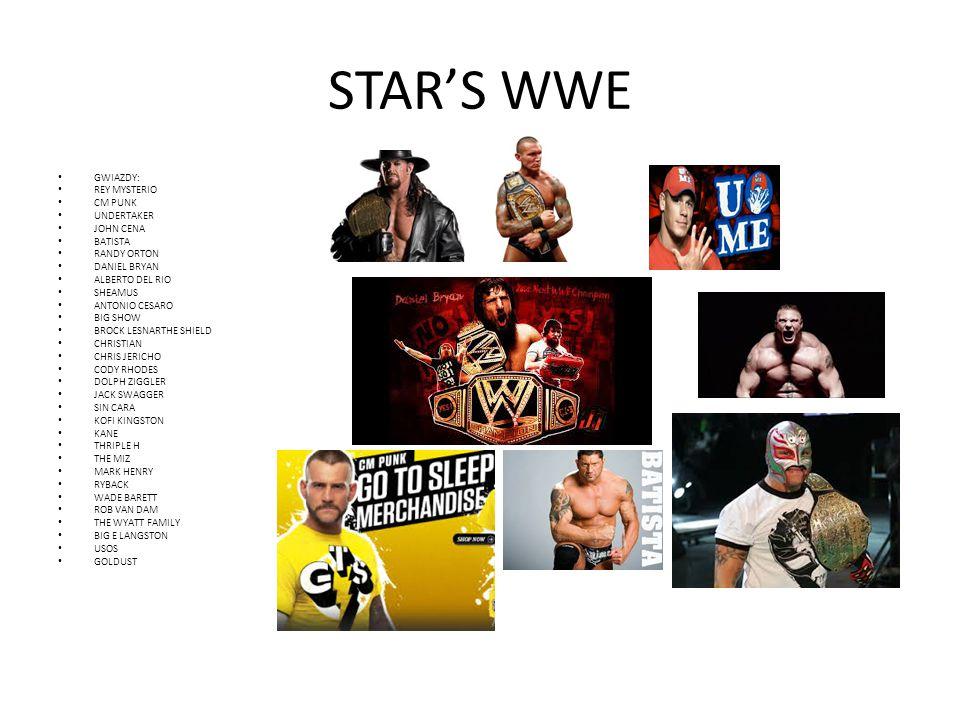 STAR'S WWE GWIAZDY: REY MYSTERIO CM PUNK UNDERTAKER JOHN CENA BATISTA