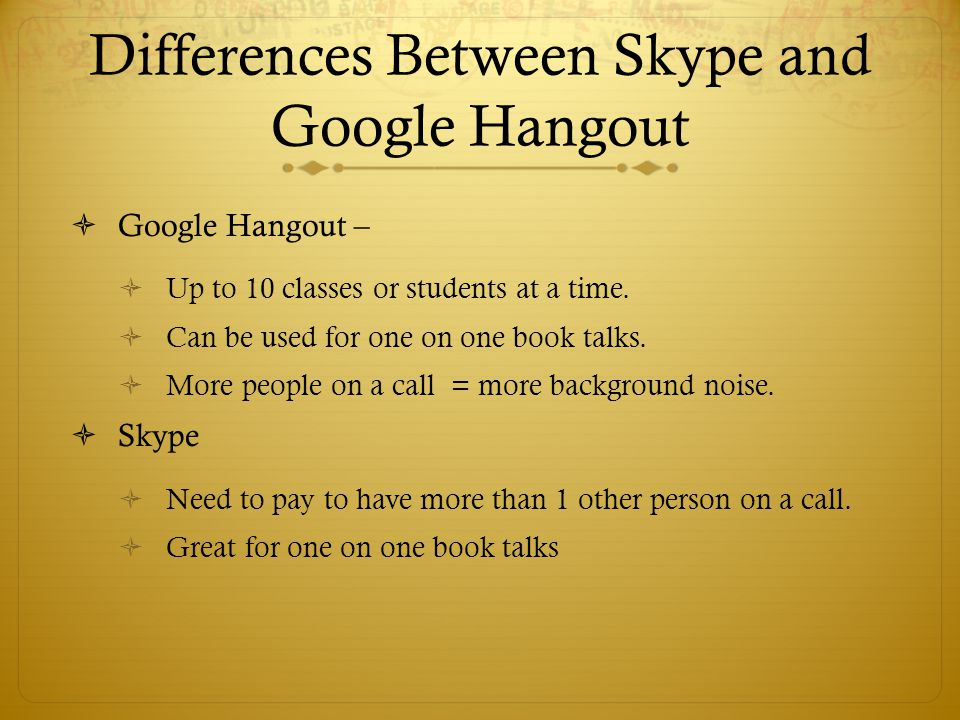 Differences Between Skype and Google Hangout